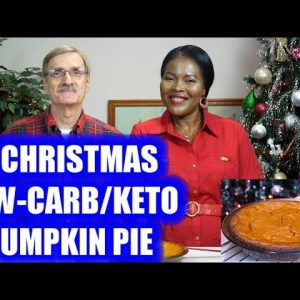 A Christmas Low-Carb / Keto Pumpkin Pie!