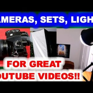 Cameras, Lights, & Sets I Use to Make YouTube Videos