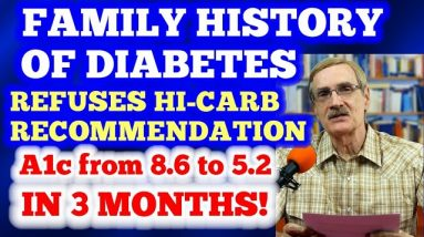 "The ""Rebel"" who refused the ""carbs plus insulin"" protocol - A1c dropped from 8.6 to 5.2 in 3 mos!"