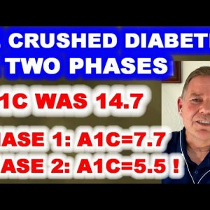 He Beat Diabetes in 2 Phases: A1c from 14.7 to 7.7 - and then to 5.5.