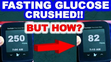 Fasting Glucose goes from 250 to 70's and 80's! And why diabetics don't need to go down to 0 carbs.