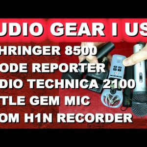 Best Audio Gear for YouTube: Little Gem, Audio Technica ATR2100, Behringer XM8500, Rhode Reporter...